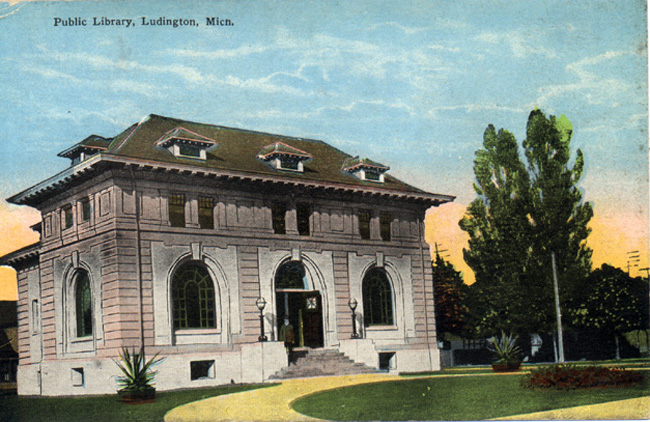 Ludington Public Library colorized