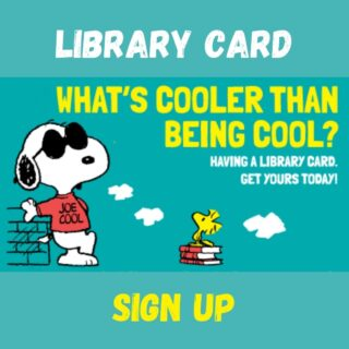 Library Card header Snoopy